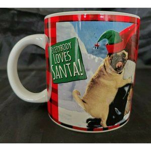 Everybody Loves Santa Dog Large Coffee Mug